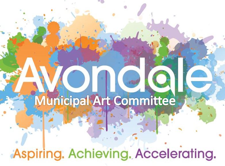 Avondale Muncipal Art Committee, Aspiring Achieving Accelerating (splash paint background)
