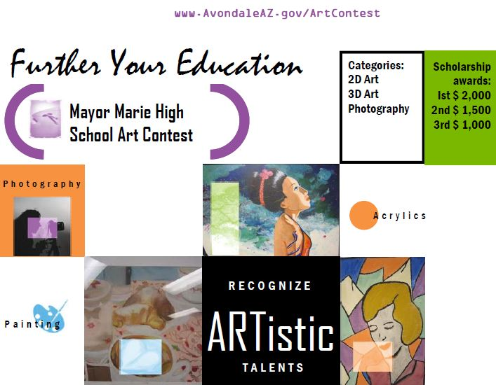 High School Art Contst flyer - photo of art