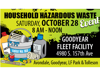 Drop off household hazardous waste on Oct. 28