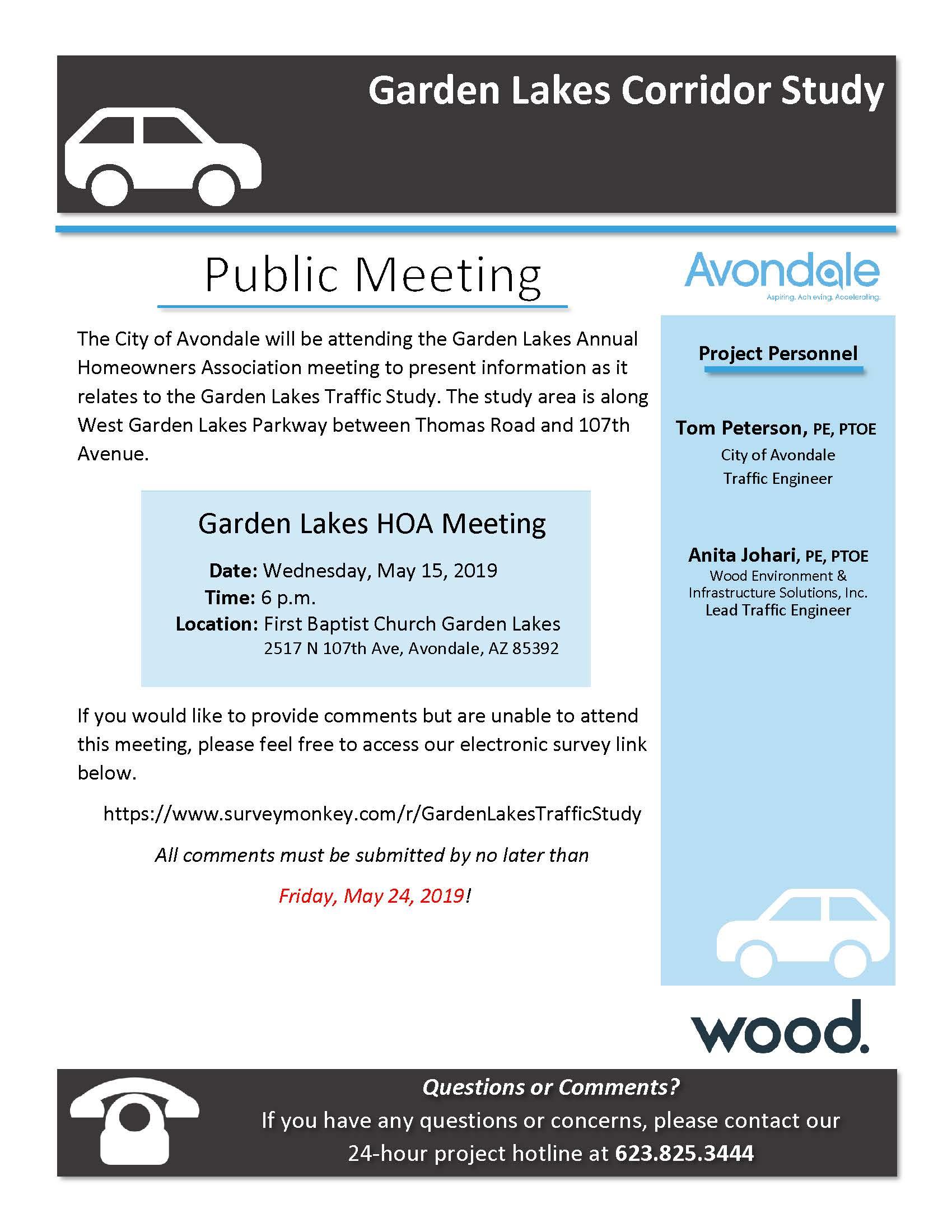 FINAL Meeting Invite - Garden Lakes Corridor Study