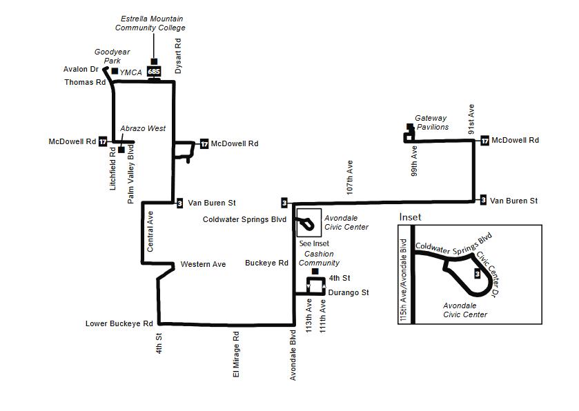 Gcc Az Campus Map.Zoom Bus City Of Avondale