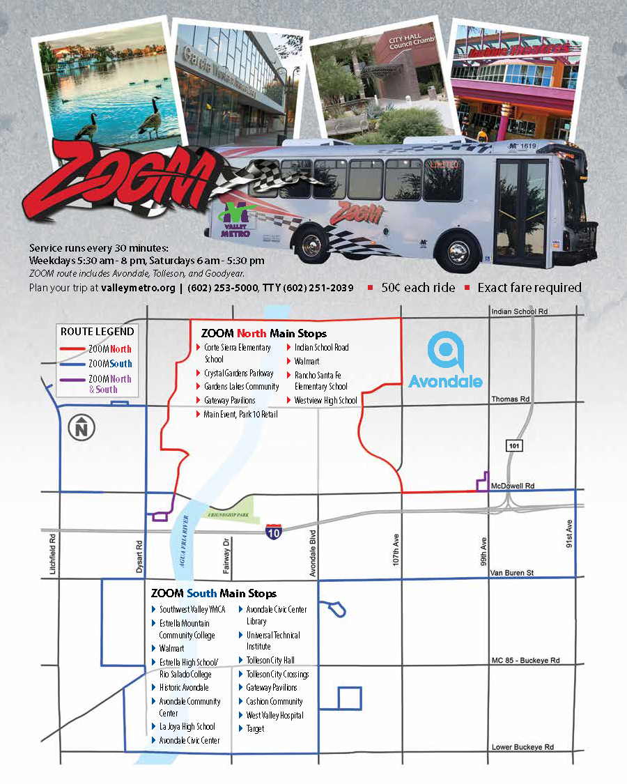 zoom bus | city of avondale