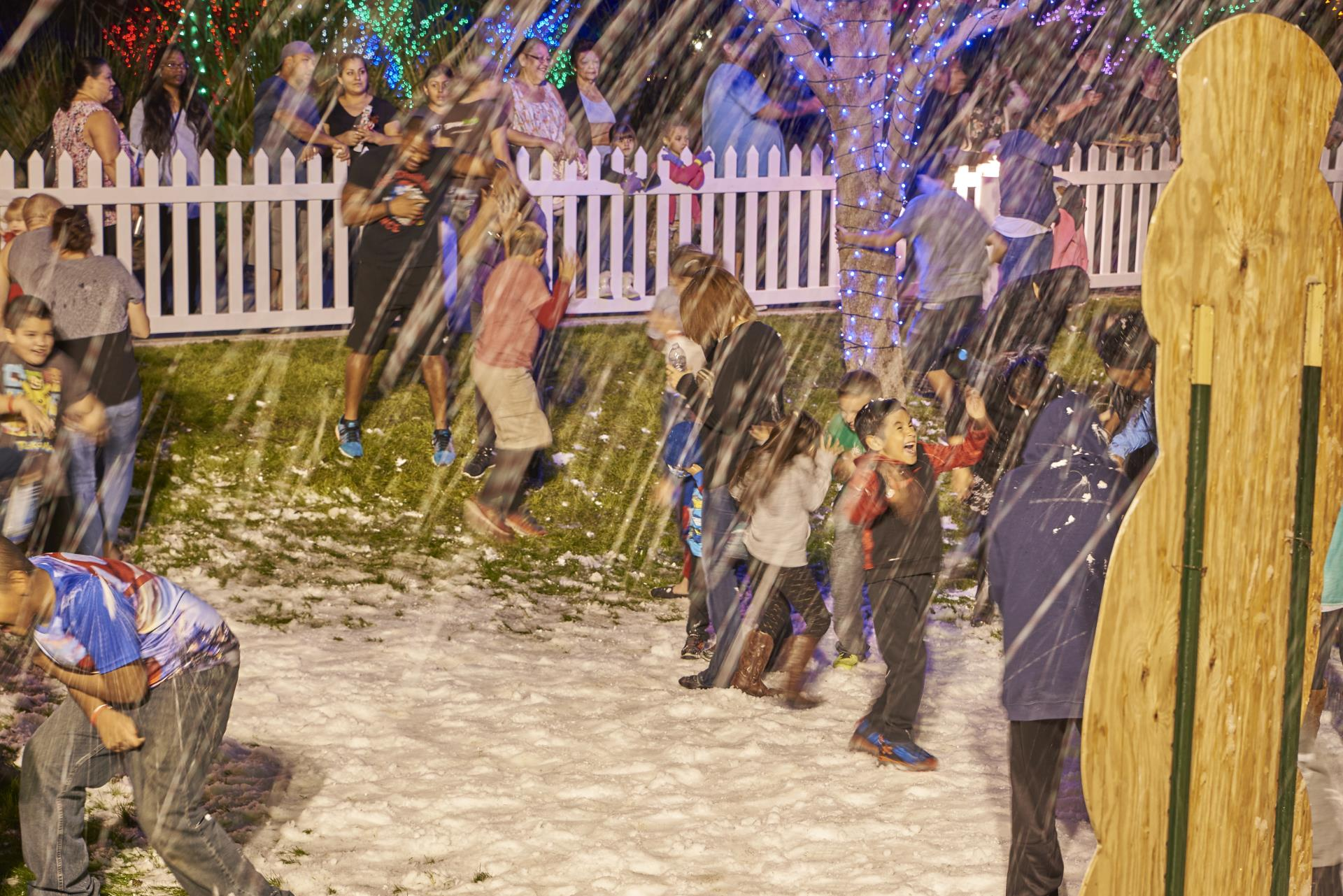 Winterfest, kids playing in snow