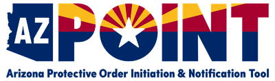"""AZ Point"" logo. ""Arizona Protective Order Initiation & Notification Tool"""