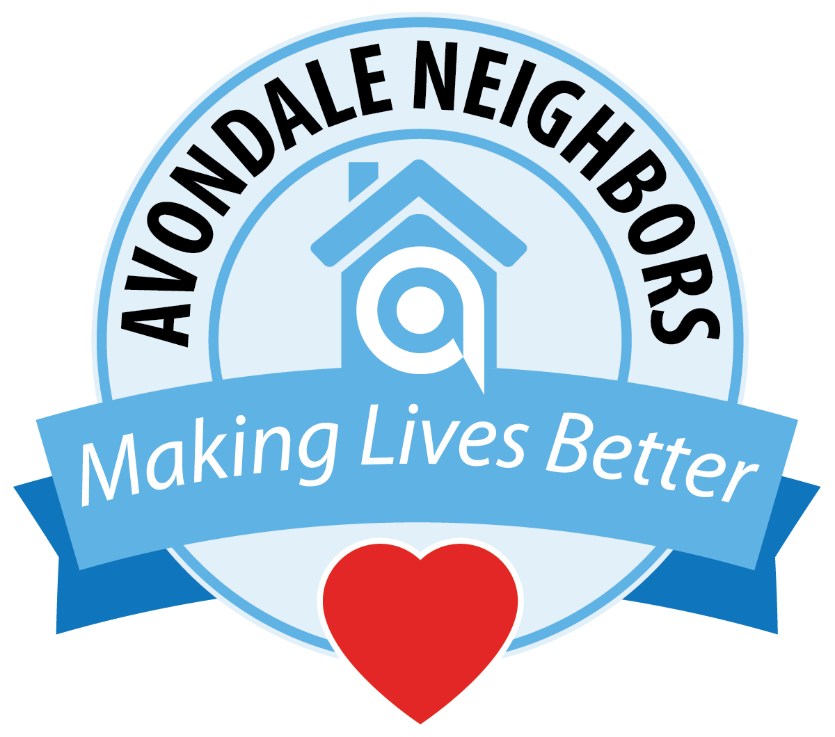 Avondale Neighbors Logo heart ribbon