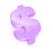 purple dollar symbol